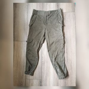 7 for all mankind silk cargo crop pants